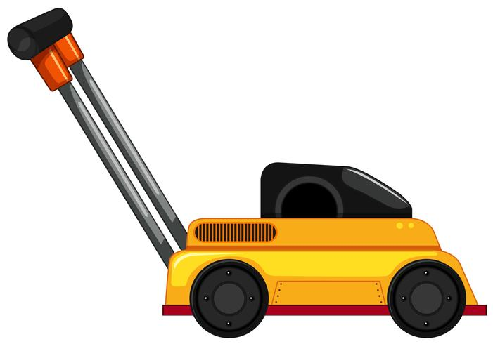 Lawn Mower on White Background vector