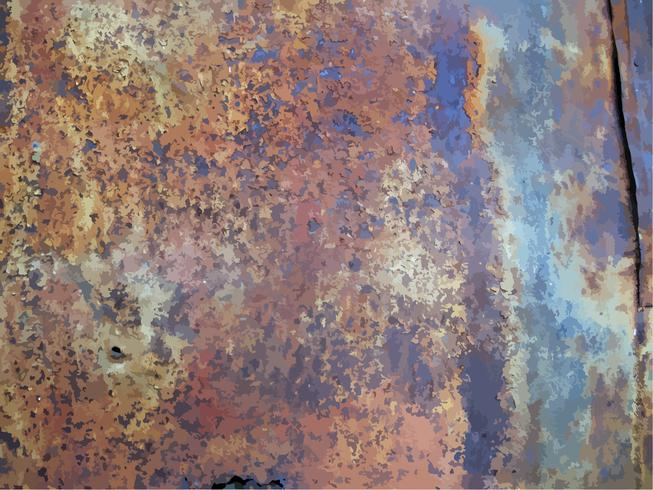 textura de metal oxidado vector