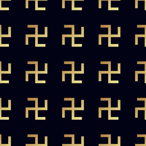 Hakenkreuz nahtlose Muster. Kreuz drehen