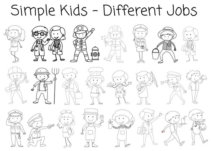 Set of doodle character