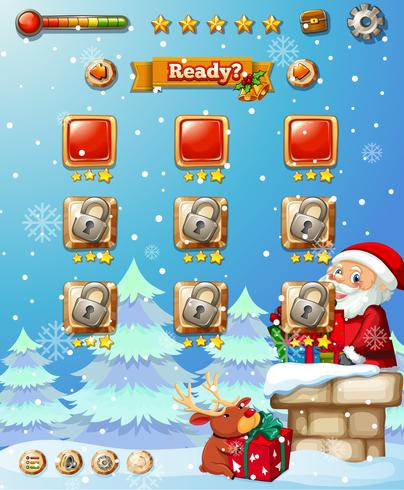 A christmas game template