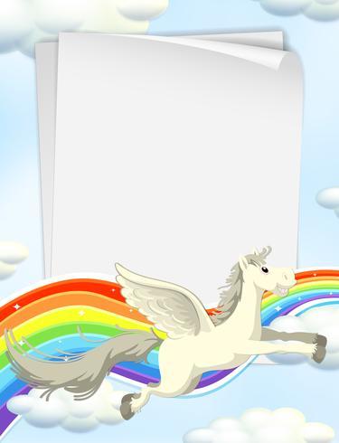 Unicorno e arcobaleno sul modello Sky