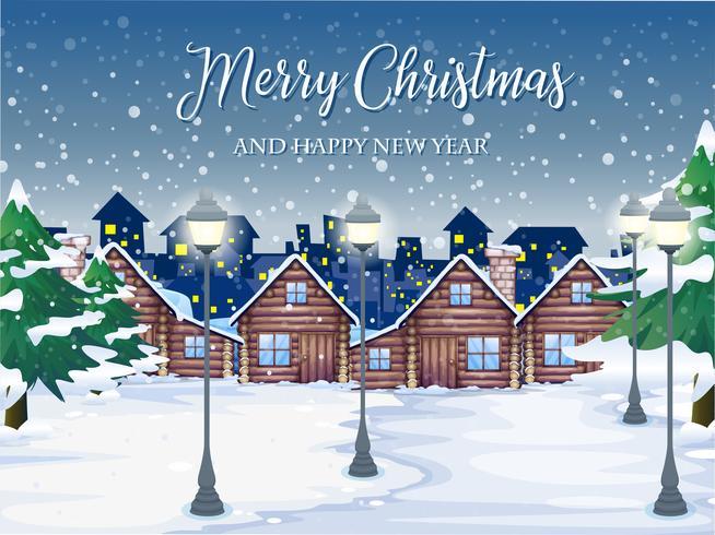 Frohe Weihnachten Winter Hintergrund