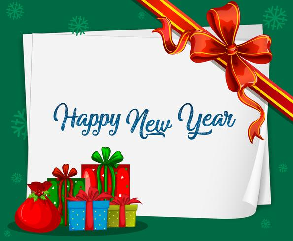 Carte de bonne année