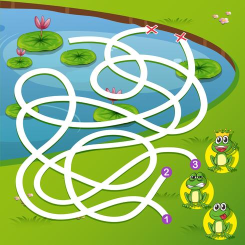 A frog maze game - Download Free Vectors, Clipart Graphics