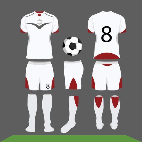 Fussball Kit Vektor Design Shirt Vorlage Download
