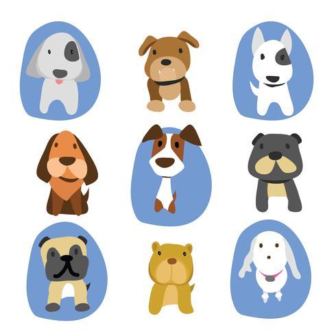 création de personnage de dessin animé chien