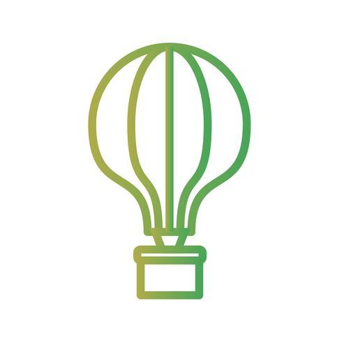 Icône de ballon à air vecteur