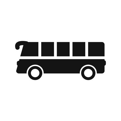 Icône de bus de vecteur