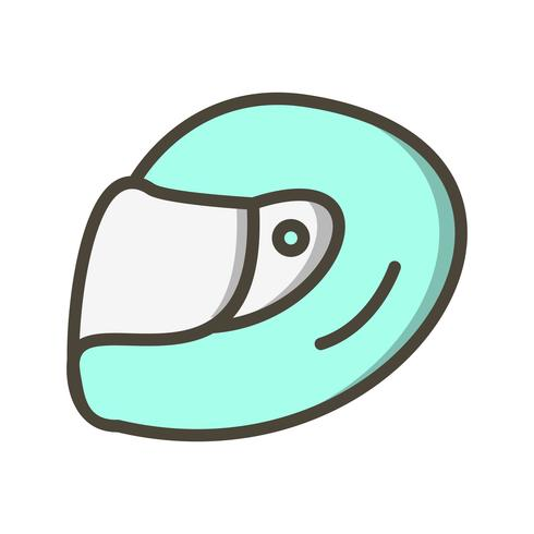 Racing Helmet Icon Vector Illustration