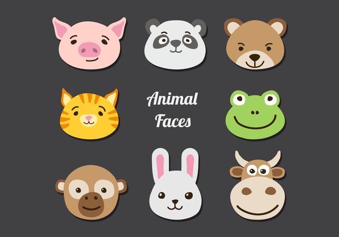 Animal Faces Set