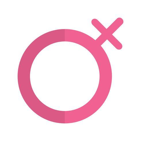 Icona femminile vettoriale