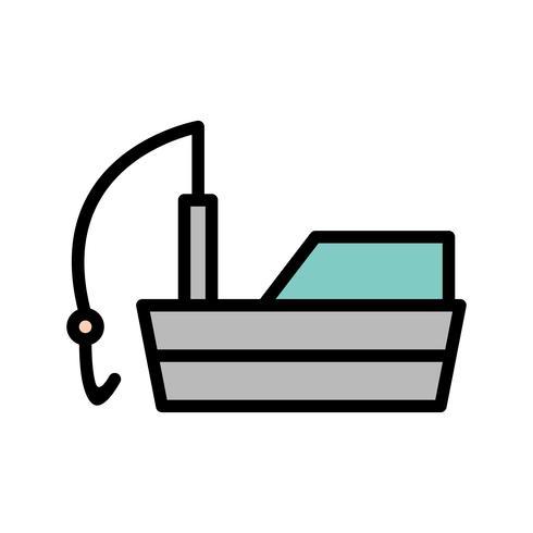 Vektor Fiskebåt Ikon