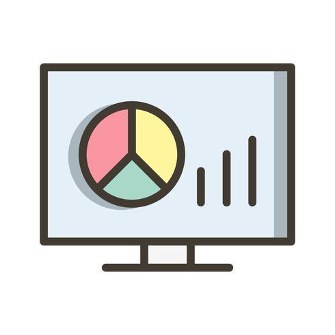 Ícone de gráficos de vetor