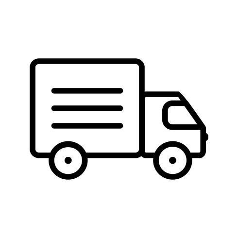 Ícone de caminhão de vetor