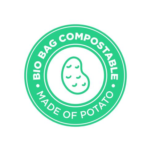 Bio Bag Compostable à base de pomme de terre.