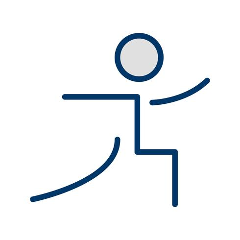 Yoga Icon Vector Illustration
