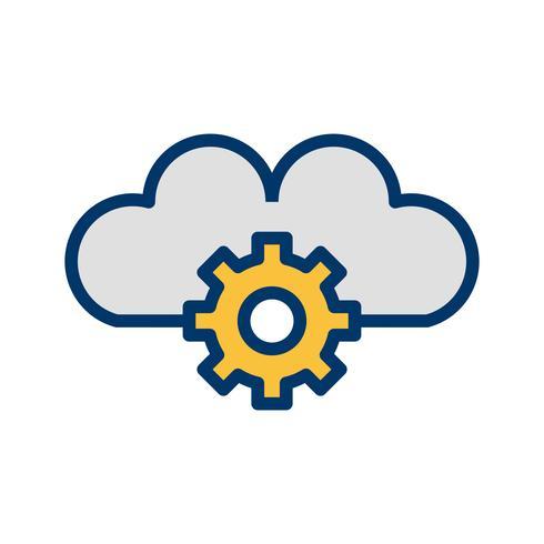 Vektor-Cloud-Einstellungen-Symbol