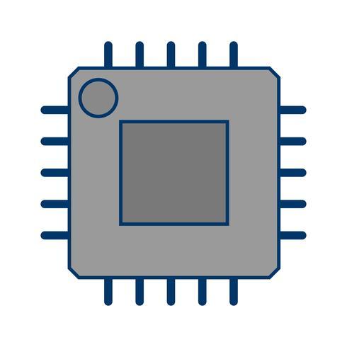 vektorprocessorns ikon vektor