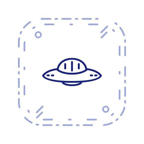 Icône de vecteur d'OVNI