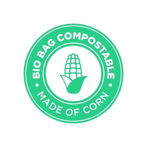 Bio Väska Kompostabel tillverkad av majs.