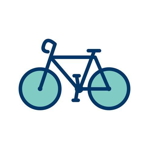 Vector fiets pictogram