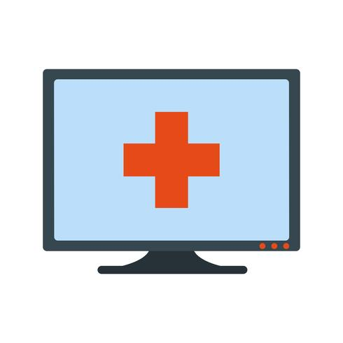 Vector Online Medical Help Icon