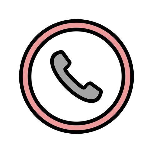 Vector telefoon verkeersbord pictogram