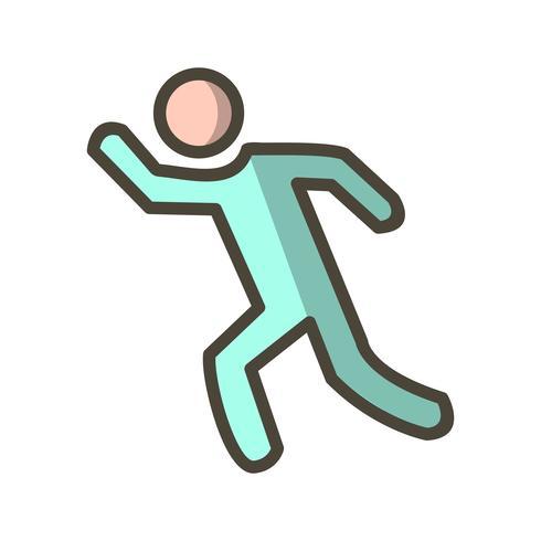 Runner pictogram vectorillustratie