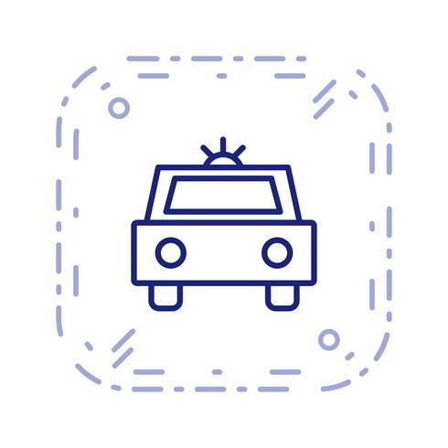 Vector icono de coche de policía