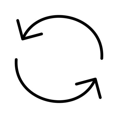 Icono de recarga ilustración vectorial vector