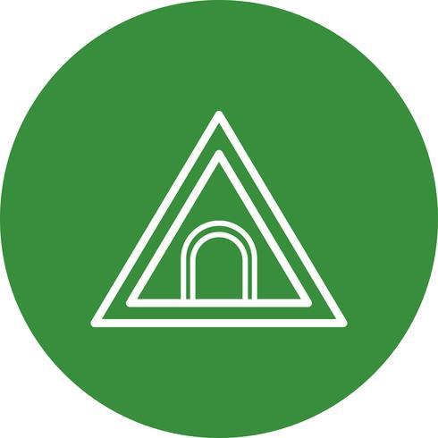 vektor tunnel vägskylt ikon