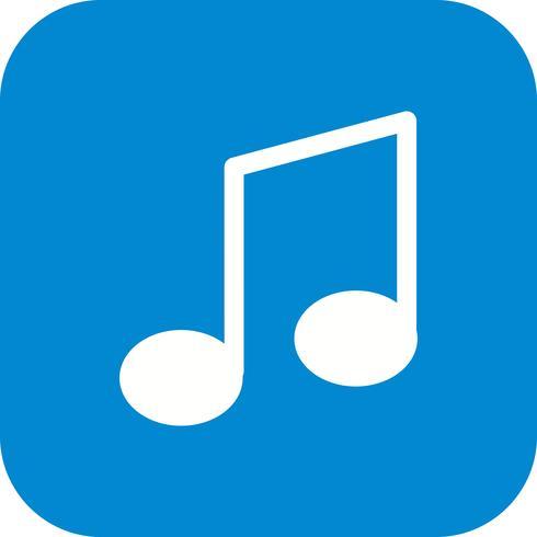 Note de musique icône illustration vectorielle