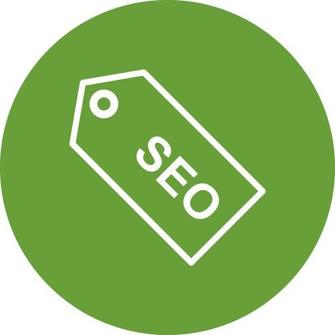 Vector SEO Tag Icon