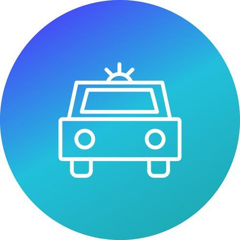 Ícone de carro de polícia de vetor