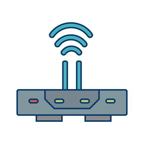 Icono de enrutador vector