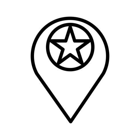 Vector icono de ubicación estrellada