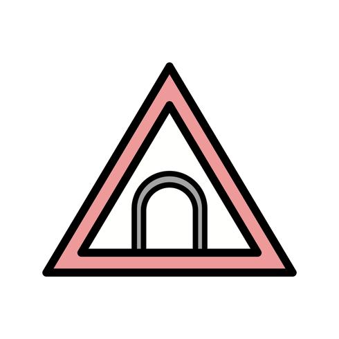 Vector Tunnel Road Sign Icon