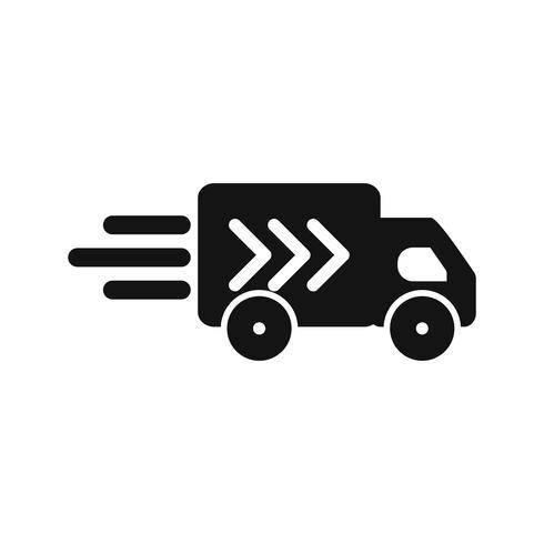 Ícone de caminhão de entrega de vetor