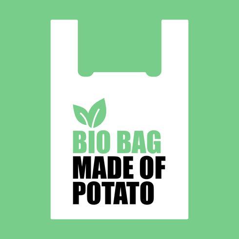 Bio Bag feito de batata.