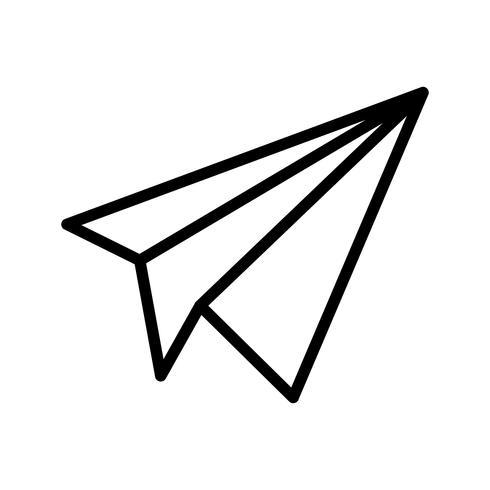 Papierflieger-Ikonen-Vektor-Illustration
