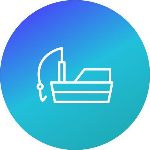 Vektor-Fischerboot-Symbol