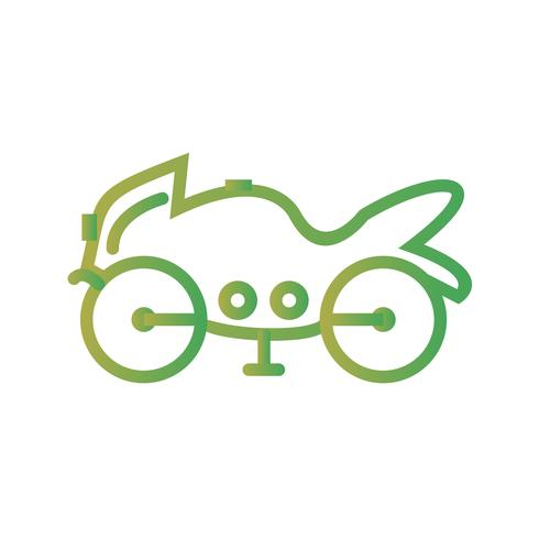 Vektor-schweres Fahrrad-Symbol