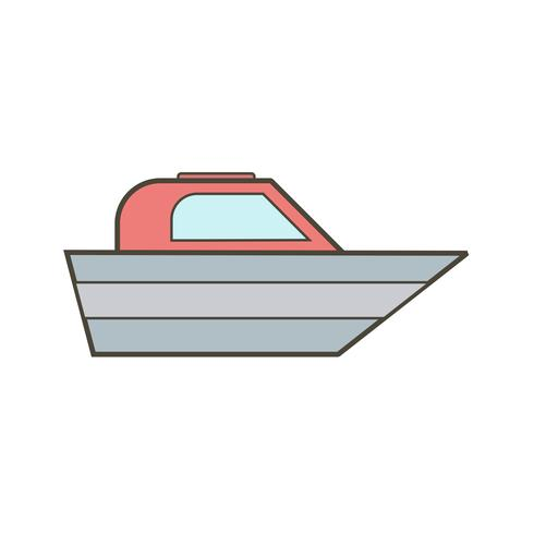 vektor båt ikon