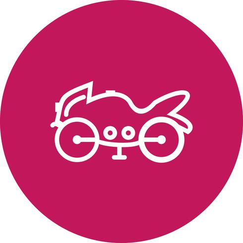Vector icono de bicicleta pesada