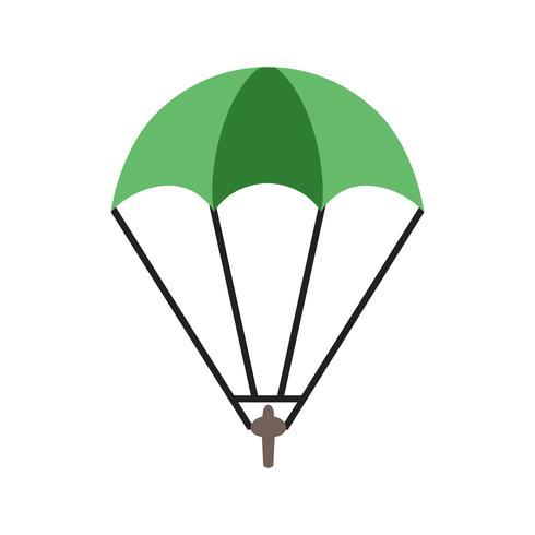 Parachutist Icon Vector Illustration