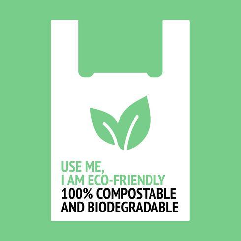 Gebruik mij, ik ben milieuvriendelijk.