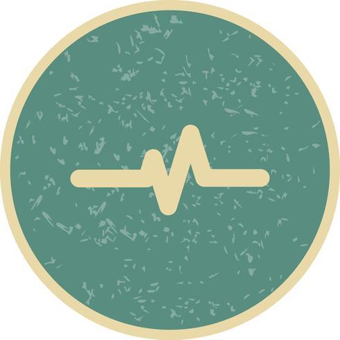 Icono de frecuencia de pulso vectorial