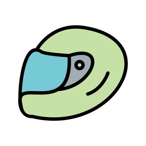 Racing Helm Symbol Vektor-Illustration