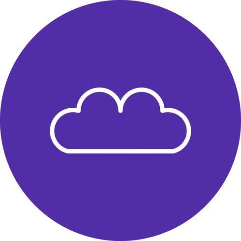 Vector icono de nube